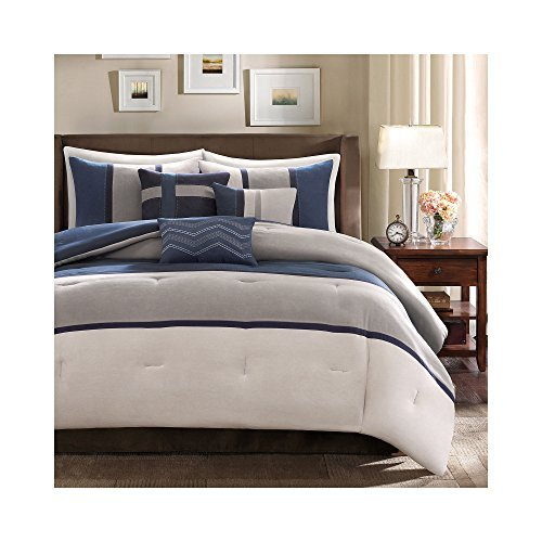 Palisades Comforter Set (Madison Park MP10-1317 Palisades 7Piece Comforter Set King , Blue, King,Blue,King by Madison Park)