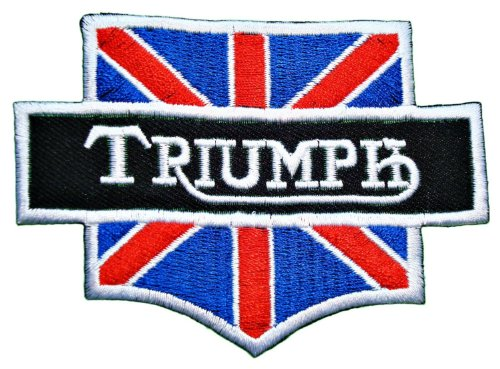 1x Triumph Motorcycles Logo Embroidered Sew Iron on Patches