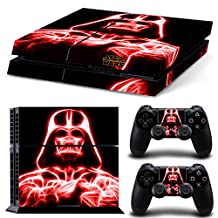 Ps4 Playstation 4 Console Skin Decal Sticker Star Wars Darth Vader + 2 Controller Skins Set