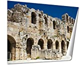 Ashley Giclee The Acropolis Of Athens Greece wall art poster print for bedroom, ready to frame, 16x20 Print