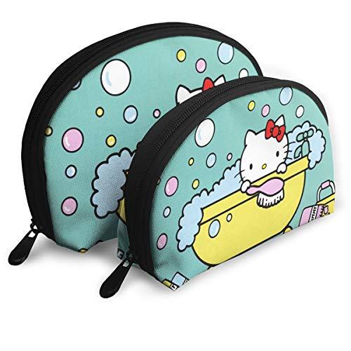 JINUNNU Makeup Bag Hello Kitty Cosmetic Pouch Clutch Portable Bags Handbag Organizer with Zipper - Bag Cosmetics Kitty Hello