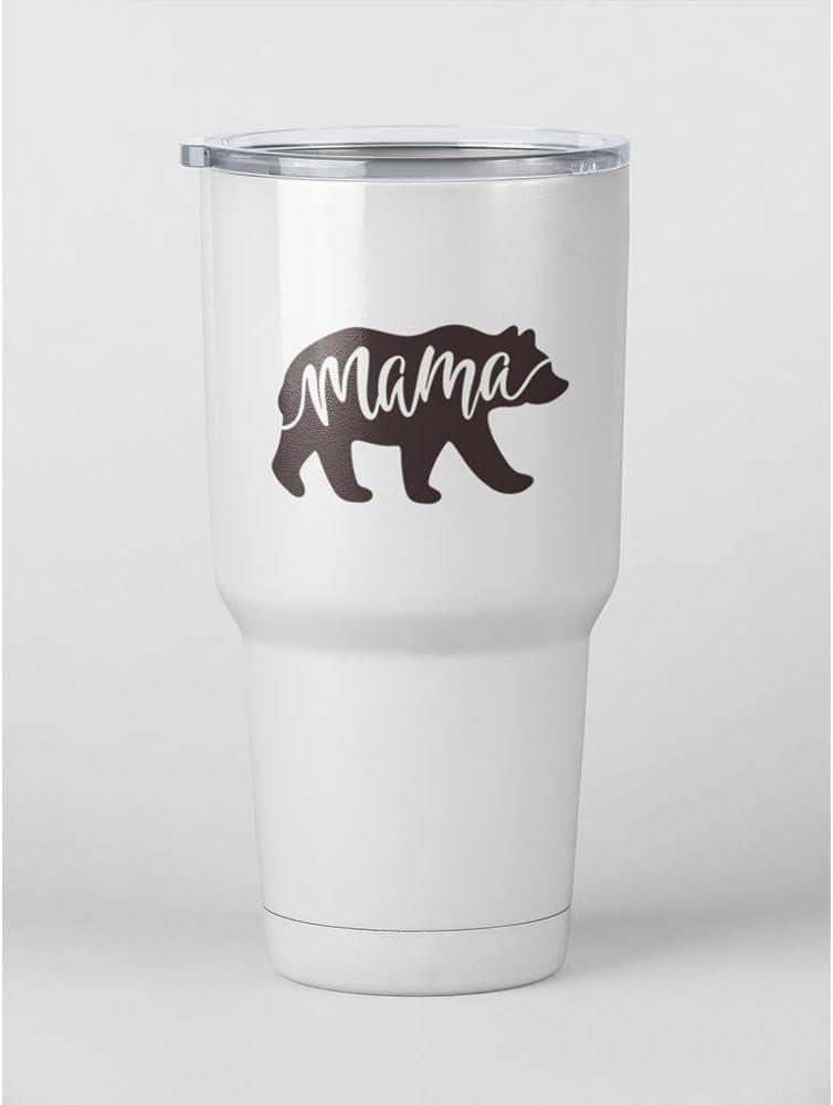 Mama papa Bear Momma Vinyl Sticker Decal for Yeti Tumbler Laptop MacBook Computer Mug Coffee Cup