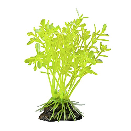 Elive Glow Elements Neon Green Linder Nia-Small-4 in Aquarium Décor Plastic Plants