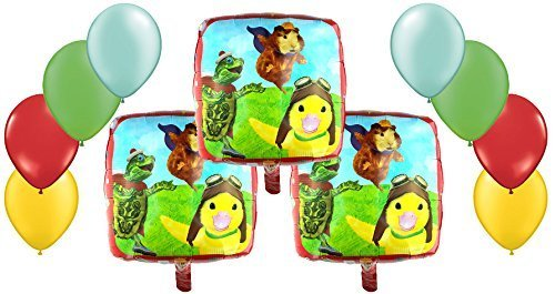 Nickelodeon, The Wonder Pets Mylar and Latex Balloons Bouquet (11 Pcs) by Anagram