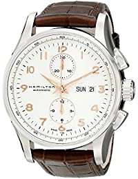 Men's H32766513 Jazzmaster Analog Display Automatic Self Wind Brown Watch