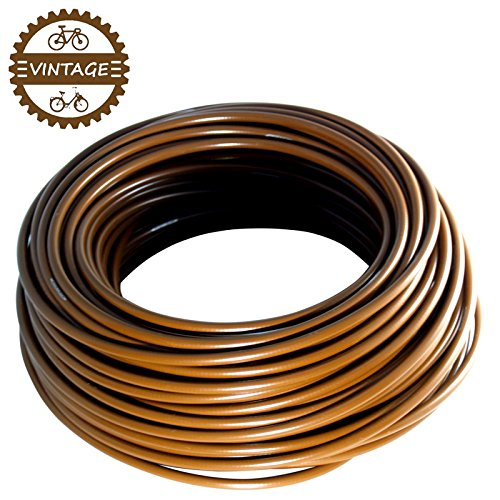 TEFLON BRAKE BIKE OUTER CASING CABLE HOUSING BROWN LENGHT 1M DIAMETER 5mm MTB ROAD VINTAGE PTFE NEW