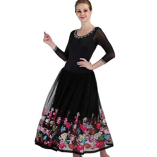JIANPING Vestido de Baile Danza Moderna Rendimiento Falda ...