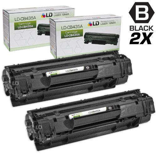 LD Compatible Toner Cartridge Replacements for HP 35A CB435A (Black, ()