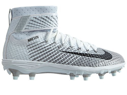 NIKE Men's Force Lunarbeast Elite TD Football Cleat (9.5, White/Black/Metallic Silver)