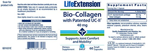 Life Extension Bio-Collagen with Patented UC-II, 60 Small Capsules by Life Extension (Image #1)