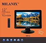 Milanix 12 Inch LED Widescreen HDTV Television with