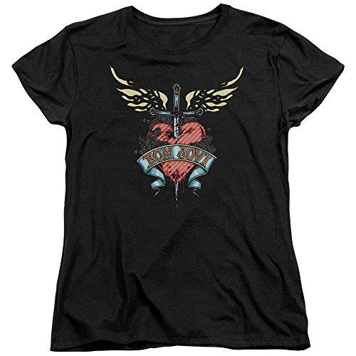 Bon Jovi Greatest Hits Art Women's Cap Sleeve T-Shirt