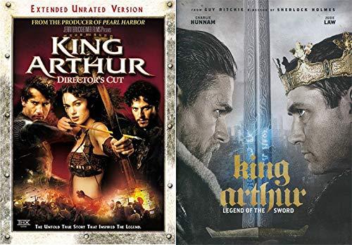 The Legend & Tales Of King Arthur- Jerry Bruckheimer vs Guy Ritchie: King Arthur (Director's Cut) & King Arthur - Legend of the Sword (2-DVD Bundle)