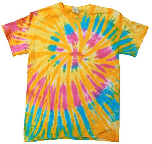 Girls Tie Dye - Colortone Tie Dye T-Shirt LG Aurora