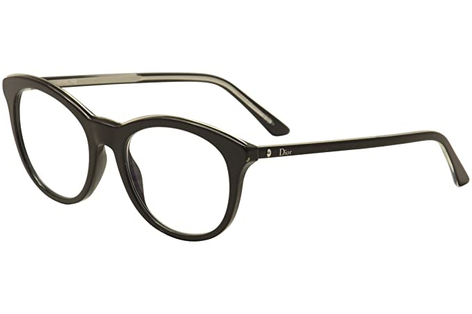 10797d0cd2c Amazon.com  Dior Montaigne 41 Women Round Black Frame Eyeglasses ...