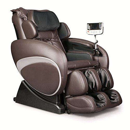 OS-4000 Zero Gravity Heated Reclining Massage Chair Upholstery: Brown/Black Leather Home Massage Chairs