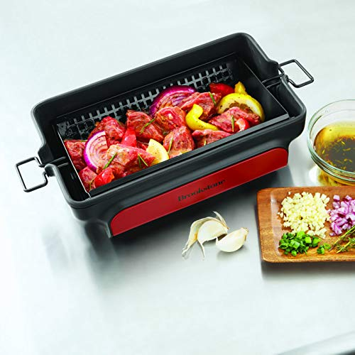 Brookstone Nonstick Grill Tumbler BBQ Grilling Basket by Brookstone (Image #7)