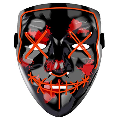 Yostyle Light up Mask Halloween Mask Cosplay Led Costume Mask EL Wire Light up