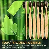 UNEEDE Cepillo Dientes Bambu,paquete de 6 juegos de cepillos ...