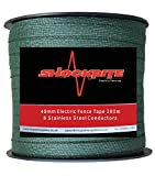 ShockRite Electric Fence Tape 200m x 40mm Green 8 Strand