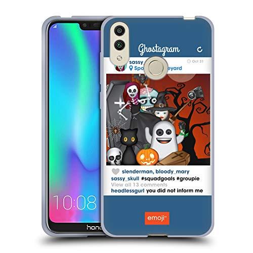 Official Emoji Squad Goals Halloween Parodies Soft Gel Case for Huawei Honor -