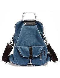 Womens Vintage Canvas Backpack Rucksack Casual Sling Bags Fashion Handbags