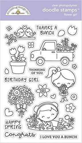 Doodlebug Clear Stamp Set - Flower Girl