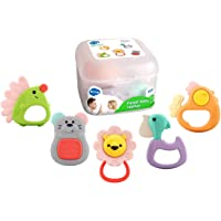 HOLA Baby Toys Rattle Sets Teether Rattles Toys Babies Grab Shaker and Spin Rattle Toy Early Educational Toddler Toys…