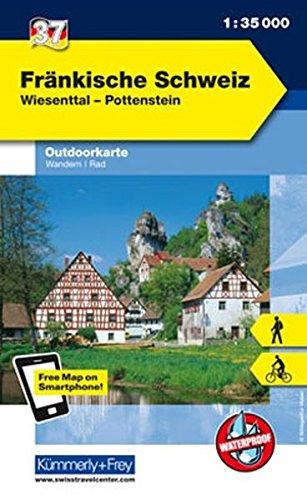 Deutschland Outdoorkarte 37 Fränkische Schweiz 1 : 35.000: Wiesenttal, Pottenstein. Wanderwege, Radwanderwege, Nordic Walking (Kümmerly+Frey Outdoorkarten Deutschland)