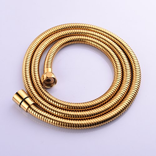 CIENCIA 2m(78-Inch)Anti-kink Flexible Gold Shower Hose Stainless Steel with Solid Brass Connector FHA019J by CIENCIA