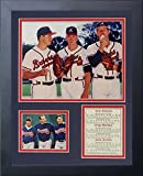 "Legends Never Die ""Tom Glavine, Greg Maddux and John Smoltz"" Framed Photo Collage, 11 x 14-Inch"