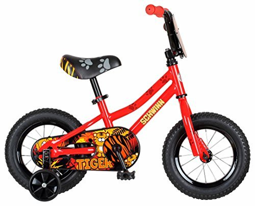 Schwinn Boys Tiger Bicycle 12 Wheel Red [並行輸入品] B072Z7TX6R