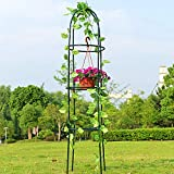 Garden Obelisk Trellis,6.3 Feet Tall Durable Metal