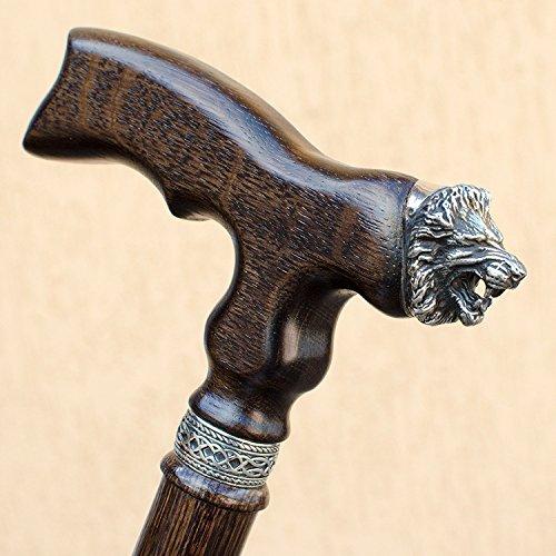 Designer Classics Wood (Wooden Walking Cane for Men LION - 36