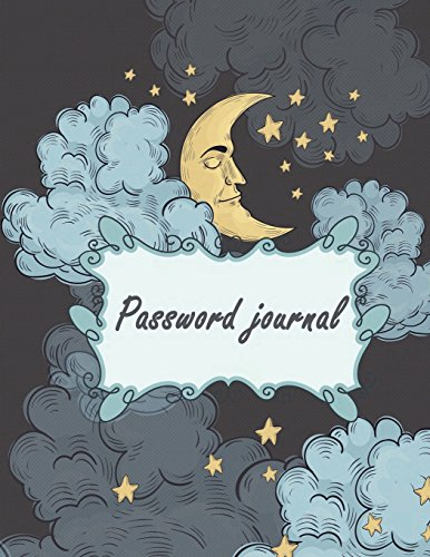 Password journal: Black Sky, Modern Password Keeper, Vault, Notebook and Online Organizer, Password Log Book with Tabs Alphabetized, 120 pages 8.5