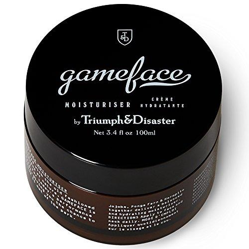 Triumph Disaster Gameface Moisturiser Jar 3.4 fl oz 100ml with Jojoba Extract Horopito Oil Vitamin E and Natural Antioxidants to Moisturise Invigorate and Rehydrate Dry Dull Tired Skin