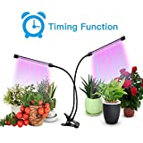 Plant Grow Light,THINK Grow Lights for Indoor,Dual Head Timing Grow Lamp,36 LED Chips with Red/Blue Spectrum,360 Degree Adjustable Gooseneck,5 Dimmable Levels,3/6/12H Timer,for Vegetative&Flowering For Sale