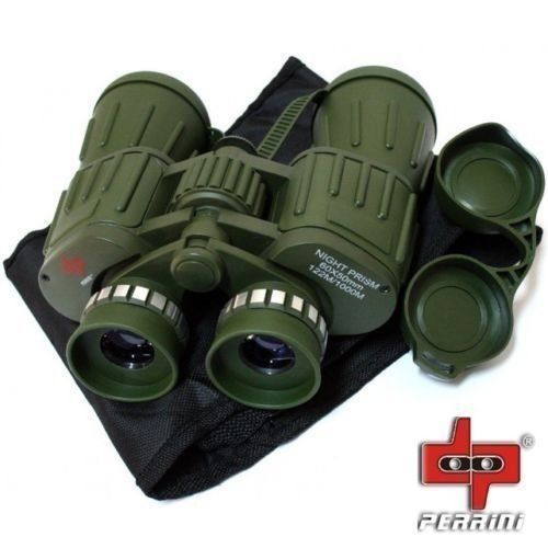 Day/Night 60X50 Military Army Binoculars Camouflage w/Pouch Hunting Camping