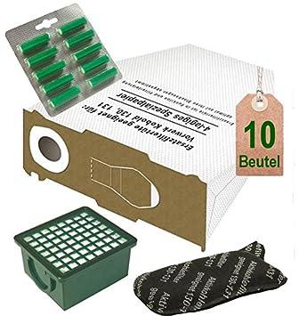 OFERTA, 10 bolsa de aspiradora Filtro Juego blancas y aroma de abeto para Vorwerk Kobold VK 130, Kobold VK 131 y 131 SC con EB 350/EB 351: Amazon.es: Hogar
