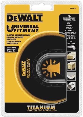 DEWALT Universal Fitment Oscillating Tool Titanium Metal Blade DWA4209 New