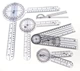 Set of 5 Piece Spinal Goniometer Protractor Ruler 360 Degree 12 inch 8 inch 6 inch (A2Z)