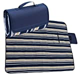 TAWA Extra Large Picnic & Outdoor Blanket Dual Layers For Outdoor (Blue)