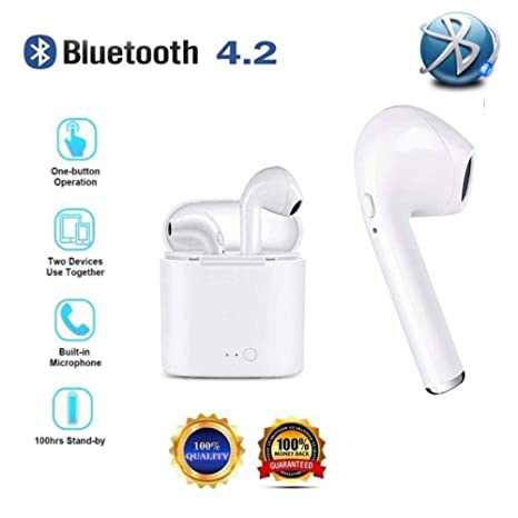 Auriculares Bluetooth Deportivos, Earphones Wireless in Ear Inalambricos Auriculares con Cancelación de Ruido Micrófono,