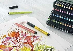 Faber-Castell 167148 - Estuche estudio con 48 rotuladores Pitt punta de pincel, multicolor: Amazon.es: Oficina y papelería