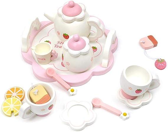 Pretend Play Tea Party 12 Piece Playset Indigo Jamm Wooden Tea Set Flowers