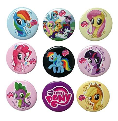 [Little Pony Buttons Badges 9 Pcs Set #2] (Disney Tinker Bell Kids Sparkle Shoes)