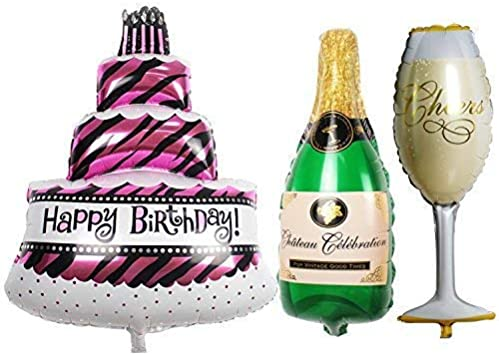 Happy Birthday Beer Bottle Shaped Balloon 36 Inch