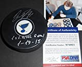 Vladimir Tarasenko St Louis Blues Autographed Signed Puck PSA DNA COA 1st NHL Goal 1-19-13