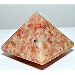 "Sunstone Pyramid sun stone | Size Approx. 1.5-2"" Inches Healing GemStone 