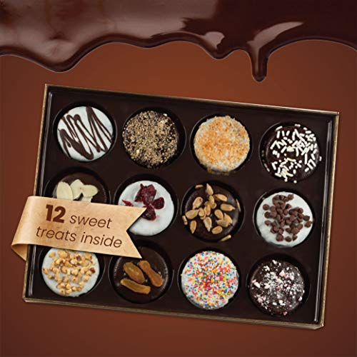 Barnett's Chocolate Cookies Gift Basket, Gourmet Christmas Holiday Corporate Food Gifts in Elegant Box, Thanksgiving…